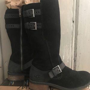 UGG Black Suede Boot